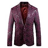 Männer 3D-Druck Britischen Stil Slim Fit Anzug Jacken Schwarz Farben Rot Anzug Jacken