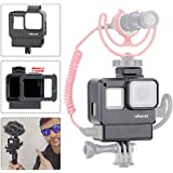 ULANZI V2 Vlogging Protective Housing Case Shell - Frame Cage with Cold Shoe Mount for Microphone LED Video Light, Compatible with GoPro Hero 5 6 7,Action Camera Accessories