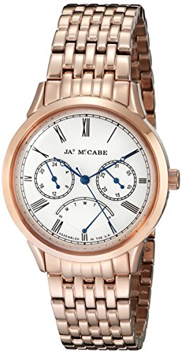 James McCabe Men's JM-1019-33 Heritage Analog Display Japanese Quartz Rose Gold Watch