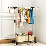 Unbekannt Einfache Racks, Bodenhänger für Schlafzimmer, Kleiderständer, Bodenständer, Regale, Kleiderbügel