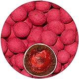 EinsSein® 500g Schokofrüchte Erdbeeren kandiert Schokolade Glückssteine Gastgeschenke Hochzeit Ringe