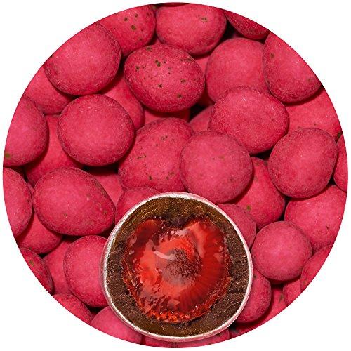 EinsSein 500g Schokofrüchte Erdbeeren kandiert Schokolade Glückssteine Gastgeschenke Hochzeit Ringe schokolierte Früchte Rohkost Apfelringe Candy Bar Hochzeitsmandeln Schokomandeln Zuckermandeln