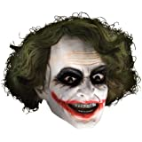Batman - Joker Maske mit Haaren für Erwachsene