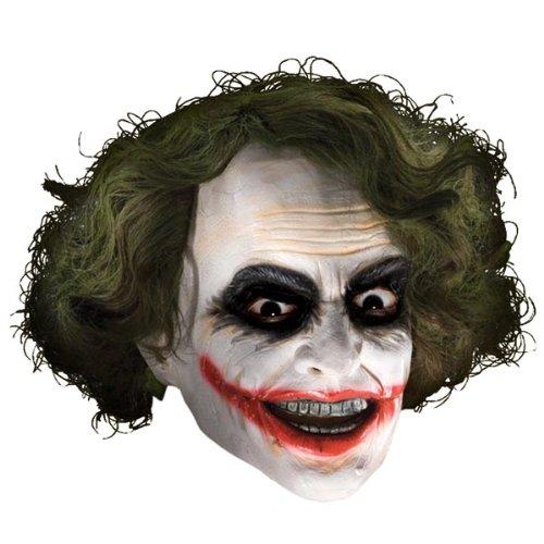 Batman - Joker Maske mit Haaren für Erwachsene (Batman Joker Maske)