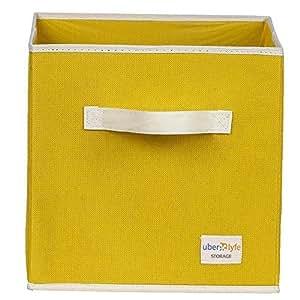 Uberlyfe Yellow 1pc Kids Toy Storage Box (KSB-1001-CUB-YL1PC)