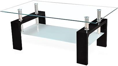 Corium] Couchtisch   Wohnzimmertisch (100 X 50 X 45 Cm) (Glassplatte)