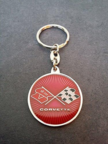 AST Chevrolet Corvette Schlüsselanhänger Keyring beidseitiges Emblem Stingray C1 C2 C3 C4 C5 C6 C7 Sting Ray -