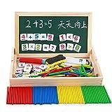 HenMerry Holz Zeichnung Schreiben Doppelte Seite Doodle Und Scribble Board Frühe Lernspiele Spielzeug Magnetische Mathematik Puzzle