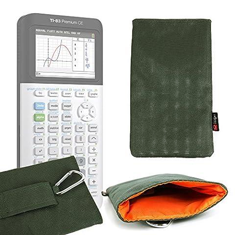 Housse rembourrée en vert kaki pour Texas Instruments TI-83 Premium, TI 82 Advanced, TI-NSPIRE CX et TEX-TI36XPRO calculatrices scientifiques - DURAGADGET - Calculatrice non fournie