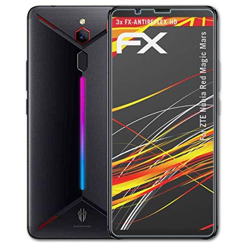atFolix Schutzfolie kompatibel mit ZTE Nubia Red Magic Mars Bildschirmschutzfolie, HD-Entspiegelung FX Folie (3X)