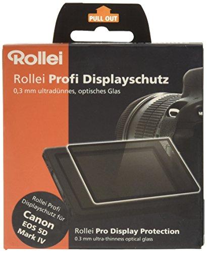 Rollei Profi Displayschutz für Canon 5D Mark IV (Touchscreen, Schwenkbildschirm, kratzfest/bruchsicher/stoßfest) Transparent