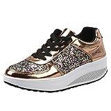 Schuhe, Resplend Damen Keile Turnschuhe Mode Mädchen Sportschuhe Pailletten Shake Schuhe