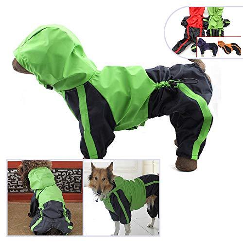 Pet Bekleidung Hund Kleidung Kleidung Regen Schnee Coats Wasserdichter Regenmantel für kleine medium Large für große Hunde Adorable Hoodie Kostüme, XS, grün