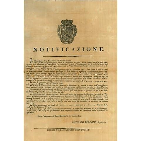 Pagamento di scudi dieci per ogni colombo ucciso in tutto il Gran Ducato non esclusa la provincia di Siena.