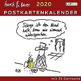 Hauck & Bauer Postkartenkalender 2020: Cartoons zum Aufstellen und Verschicken -