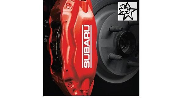 Subaru 4 X Bremsenaufkleber Bremsen Aufkleber Bremssattel Hitzebeständig Decals Stickers Von Myrockshirt Estrellina Glücksstern Auto