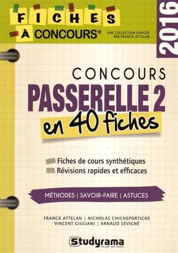 Concours Passerelle 2 : 40 fiches méthodes, savoir-faire et astuces