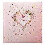 Goldbuch Babyalbum, Pink Heart, 30 x 31 cm, 60 weiße Seiten mit Pergamin-Trennblättern, Kunstdruck mit Goldprägung und Relief, Rosa, 15315
