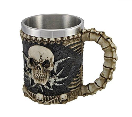 DingSheng Neuheit 3D Creative Kaffee Tassen, 3D Totenkopf Bier Becher kräftigen Kaffee Tee Flasche Tasse Bierkrug Trinkbecher 003