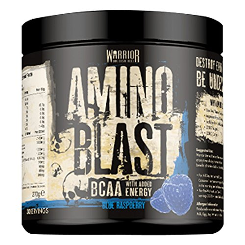 51AfYgaCJEL. SS500  - Amino Blast BCAA Powder - Pre-Workout Energy Drink 30 Servings - Cherry Cola | Warrior Supplements