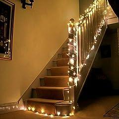 Idea Regalo - Uping Strisce LED, Luce Calda Bianca,22 Metri, Impermeabile, 200 Singoli LED, Decorativa da Interni e Esterni, Anche per Festa, Giardino, Natale, Halloween, Matrimonio