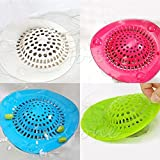 #9: ShopAIS Silicone Sink Strainer Floor Drain Cover Hair Catcher Rubber Shower Trap Basin Filter For Bathroom Kitchen (Assorted Color)