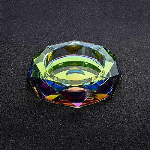 Aschenbecher Luxus Atmospheric Kristallglas Farbe Da Vinci Octagon kreative Persönlichkeit Trend Heim Wohnzimmer Couchtisch Hotel Club Business-Geschenke CHENGYI (größe : 18*18*4cm)
