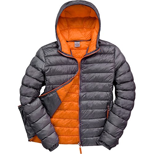 Result Urban Outdoor Mens Urban Snowbird Hooded Jacket Grey/ Orange