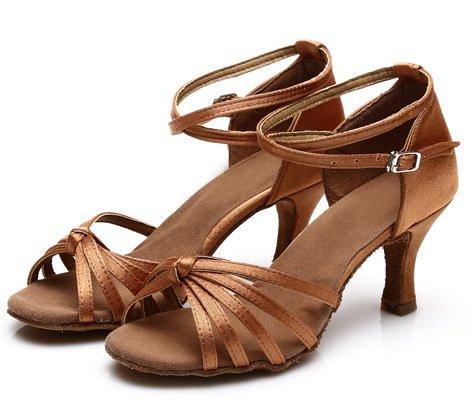 DGSA Frau Latin Dance Shoe_high-heel Internationale Latin Dance Shoe 302 # Pu-Silber---5 cm