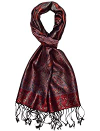 LORENZO CANA Pashmina pour l´homme - écharpe de 100% soie avec les mesures  de 35 x 160 cm - fait à la main – souple élégant en violet… c00847931d3
