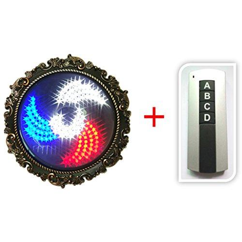 DGEG Barbierstab Leuchtkugel Drehende Beleuchtung LED Helle Wand im Freien Wasserdichte Windmühle (Farbe : Single side) -