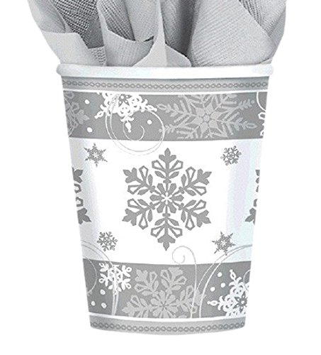 Amscan International���Fiocco di neve 581559�Sparkling 266�ml bicchieri di carta