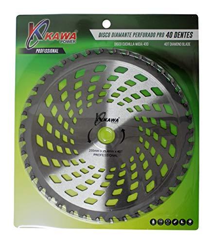 Kawapower KW00541 Disco cuchilla de Widia PRO con 40 puntas para desbrozadora