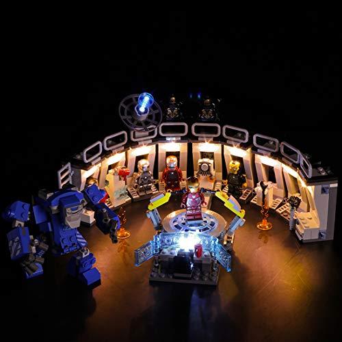 NURICH Licht Set für Lego 76125 Marvel Super Heroes Iron Mans Werkstatt, passen zum Lego 76125