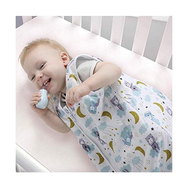 Licitn Saco de Dormir para Bebé – 2.5 TOG Saco de Dormir de Algodón Unisex para Bebés,Longitud Ajustable para Bebé