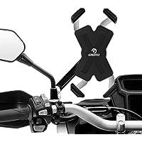Grefay Support Téléphone de Moto en Acier Inoxydable Smartphone Portable pour Rétroviseur de Moto 360 ° Rotatif pour 4,5…
