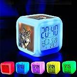 Dormitorio con datos de encendido reloj despertador 7cambio de color LED y pantalla de...