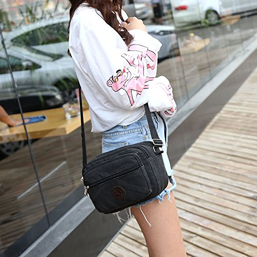 Schulter diagonale Umhängetasche Sommer lässige Mode Schulter diagonal Paket Damen Schultertasche black