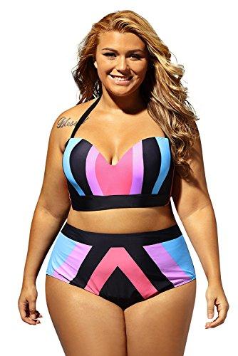 Akalili Damen Bikini-Set Gr. XXXXX-Large, Mehrfarbig (Teen Girl Coustumes)