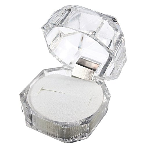 Transparent Acryl Ring Display Box Storage Organizer Geschenk-Paket Carrying Case By accessorywala Speicher Display Case Box