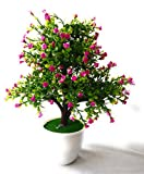#10: FunkyTradition Artificial Tree Blossom Flower Plant Home Office Decoration Purple-White