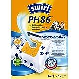 Swirl PH 86 NeutralizAir Staubsaugerbeutel für Philips Staubsauger, 4 Beutel + 1 Filter