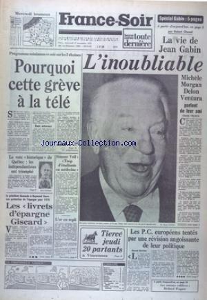 FRANCE SOIR du 17/11/1976 - SPECIAL JEAN...