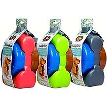 Wasserflasche Aquacroc medium 1000 ml mit 2 Näpfen +1 Kotbeutelspender (ohne Kühlakku)