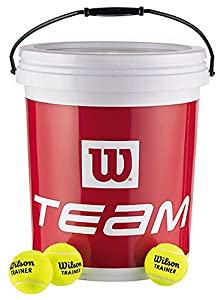 Wilson Team W Trainer Tennis Balls (Bucket of 72 Balls) Review 2018