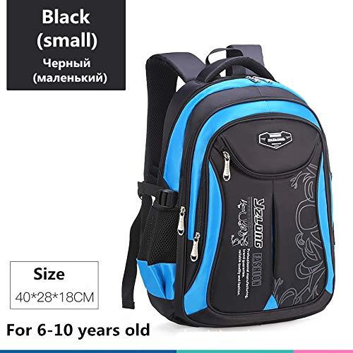 Schultasche für Kinderrucksack-Tasche Kinderschulsack Teen Junge Mädchen Hohe Kapazität wasserdichte Ausrüstung Kinderschultüte Mochila Klein schwarz