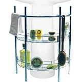 RENO - sous-lavabo 2 étagères de rangement de salle de bain - argent