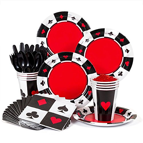 Casino Party Supplies Standard Kit -Serves 8 by Costume SuperCenter