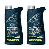 MANNOL 2 x 1000ml, 7830 Motorbike 4-Takt HD API SL 20W-50 Motorradöl