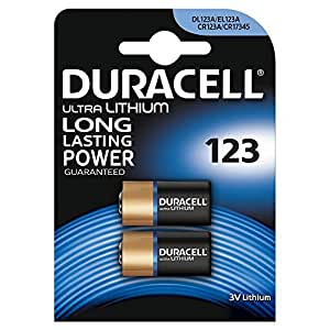 Duracell Specialty Type 123 Ultra Lithium Photo Battery, pack of 2 ( 4 batteries)